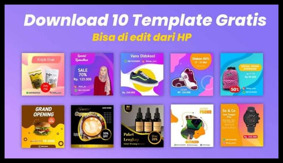 Gratis Download Template Pixellab untuk Media Sosial