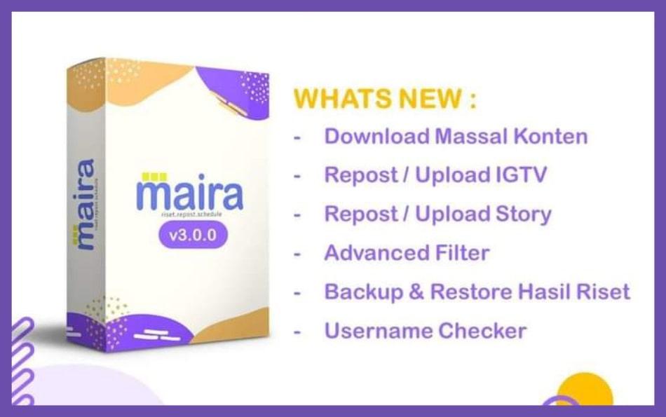 Aplikasi Maira - Tools Riset, Repost dan Schedule Konten Instagram Terbaru 2021