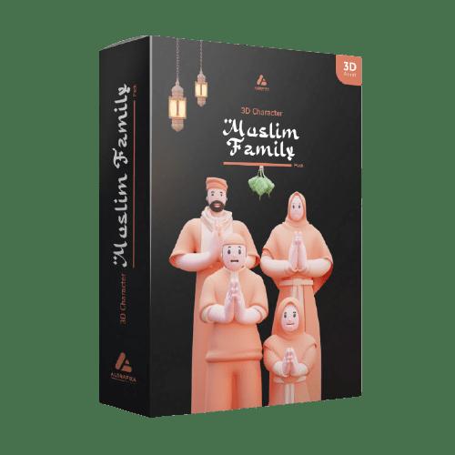 muslim family pack 3D