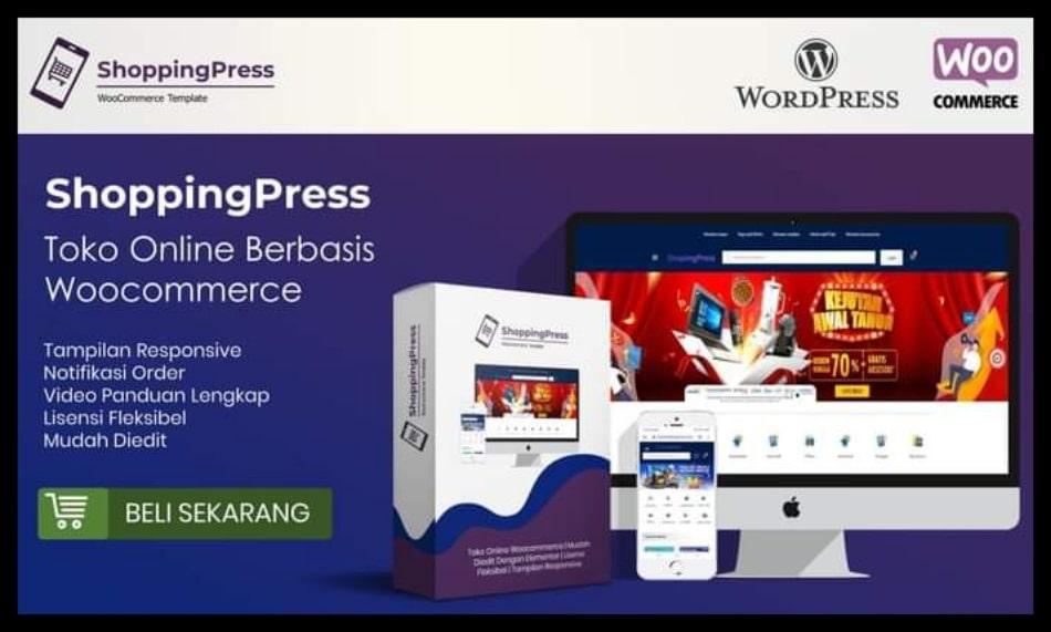 Shoppingpress Template Toko Online Responsive dan SEO Friendly